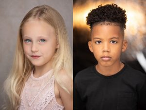 Child Actor Headshots for Mack and Mabel